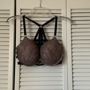 VS 34DD front close lace caged push-up bra